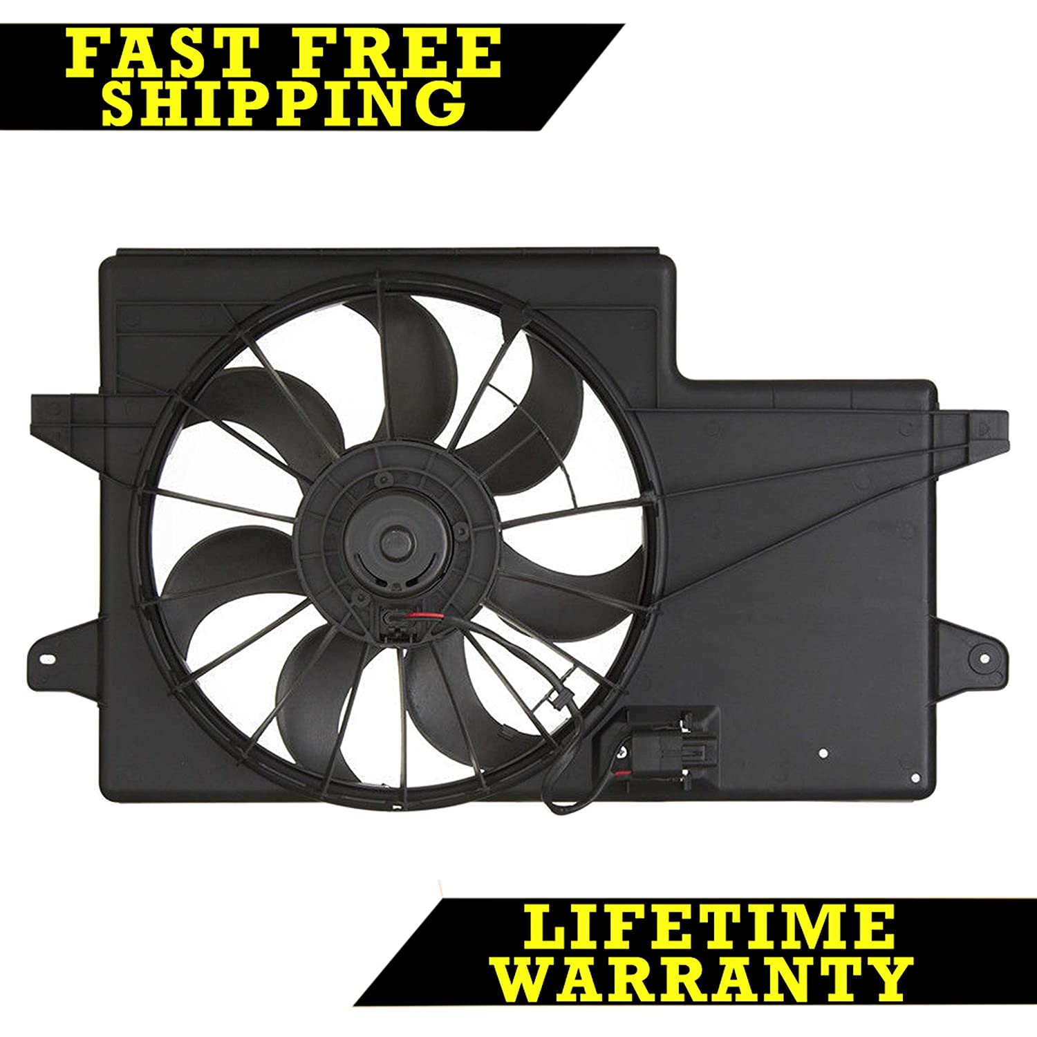 RADIATOR CONDENSER COOLING FAN FOR FORD FITS FOCUS 2.0 L4 4CYL FO3115171 Sunbelt Radiators