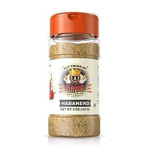Flavor God #1 Best-Selling Seasonings, Habanero, 1 Bottle, 5 Ounce