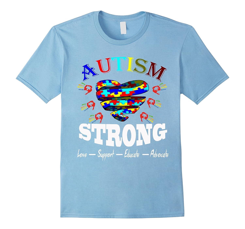 Autism Awareness T shirt - Autism Strong-TH