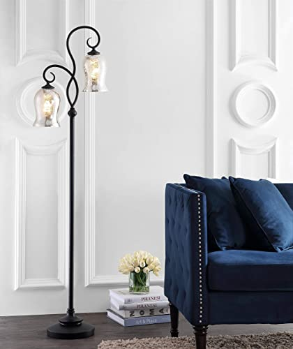 Safavieh FLL4058A Claudia Black 63.5-inch 2-Light LED Bulbs Included Floor Lamp