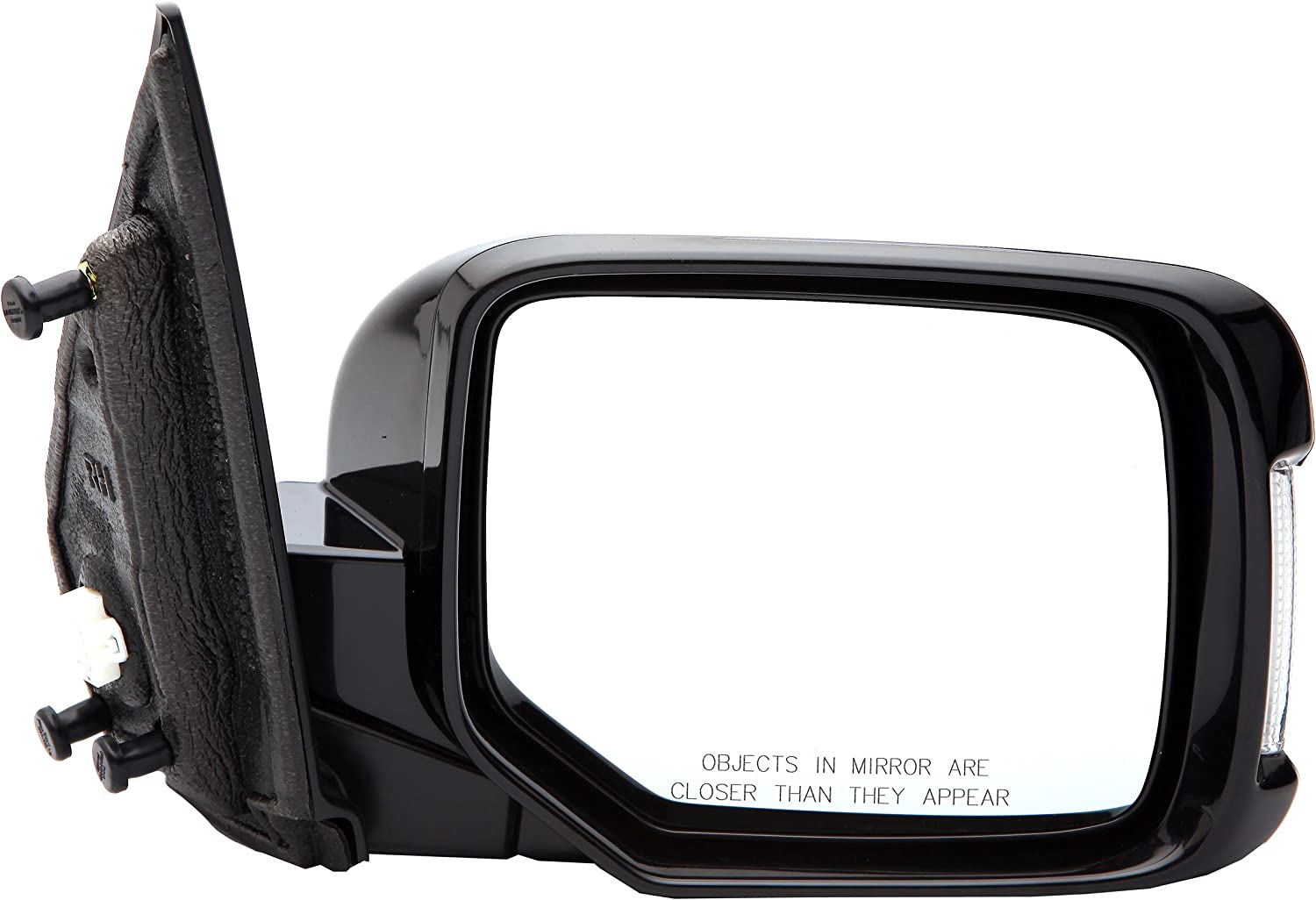 Dorman 955-1107 Passenger Side Power Door Mirror Black Folding with Signal and Memory for Select Honda Models