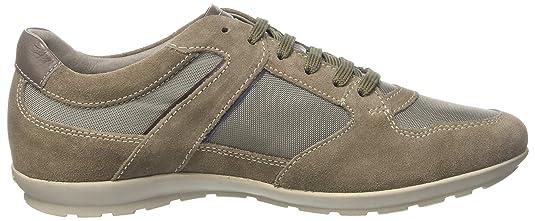Geox u wells c, scarpe da ginnastica basse uomo, grigio (anthracitec9004), 43 eu amazon shoes grigio