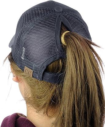 Accessoires C C Ponycaps Casquette De Baseball En Coton Pour Queue De Cheval Ou Chignon Haut Decoiffe Denim Vetements Hotelaomori Co Jp