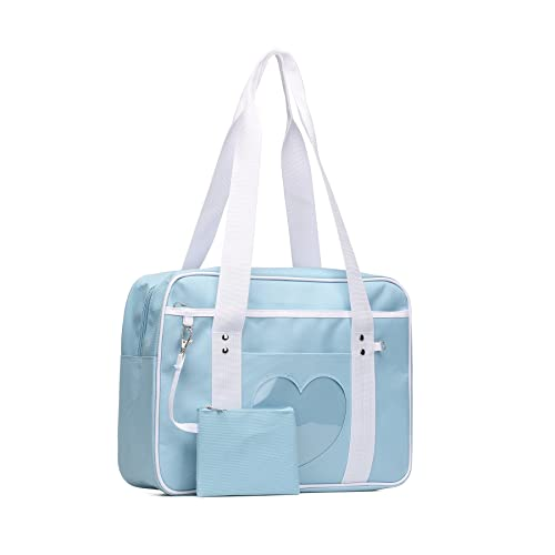 Amazon.com  SteamedBun Ita Bag Heart Japanese Bag Girls Large Shoulder Purse  Anime School Satchels for Cosplay  Shoes 66063ef968330