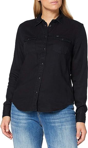 Lee Regular Western Shirt Camisa, CAPITÁN del Cielo, XL para ...