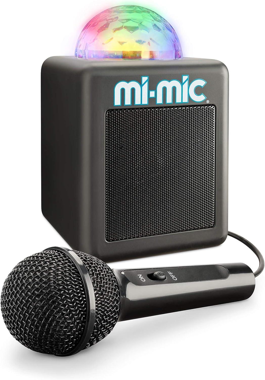 Mi-Mic TY6149 Mini máquina de Karaoke para niños y Altavoz de Cubo de Disco, portátil con Bluetooth, micrófono, Luces LED y Echo