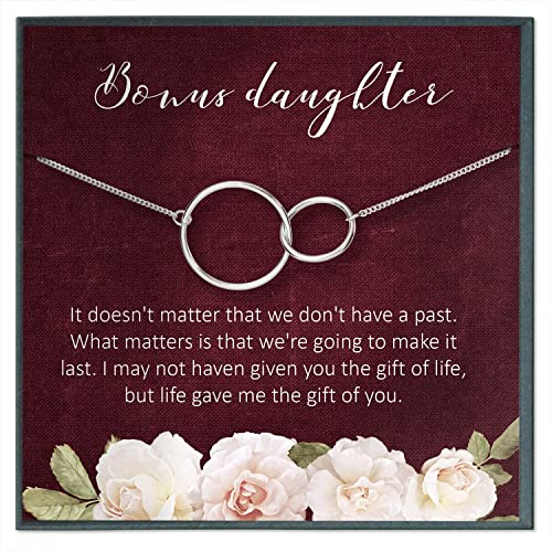 Handpicked Daughter Gifts from Mom /• Unbiological Mother /& Child Gift for from Stepmom /• Sterling Silver /• Infinity Heart Necklace /• Adopted Step Daughter Stepdaughter /• Quote Card Keepsake Jewelry