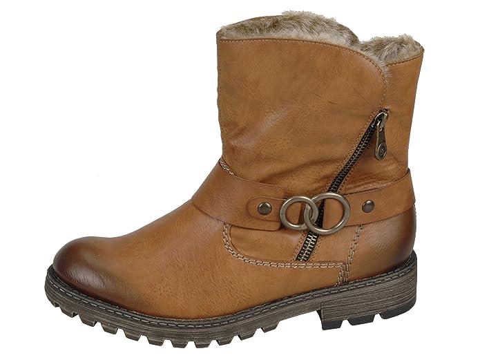 Rieker Damen Stiefeletten Boots Glattleder Synthetik Tr