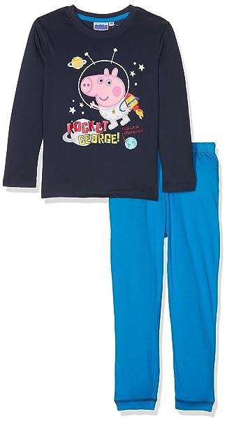 Gold treasure Little Kids Sleepwear Long Sleeve Pajama Set with Cartoon Black Point Dinosaur
