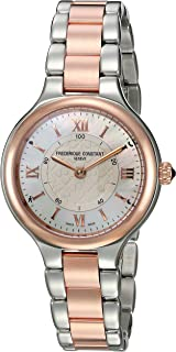 Frederique Constant Womens Horological Smart Watch Swiss-Quartz Stainless-Steel Strap, Two Tone