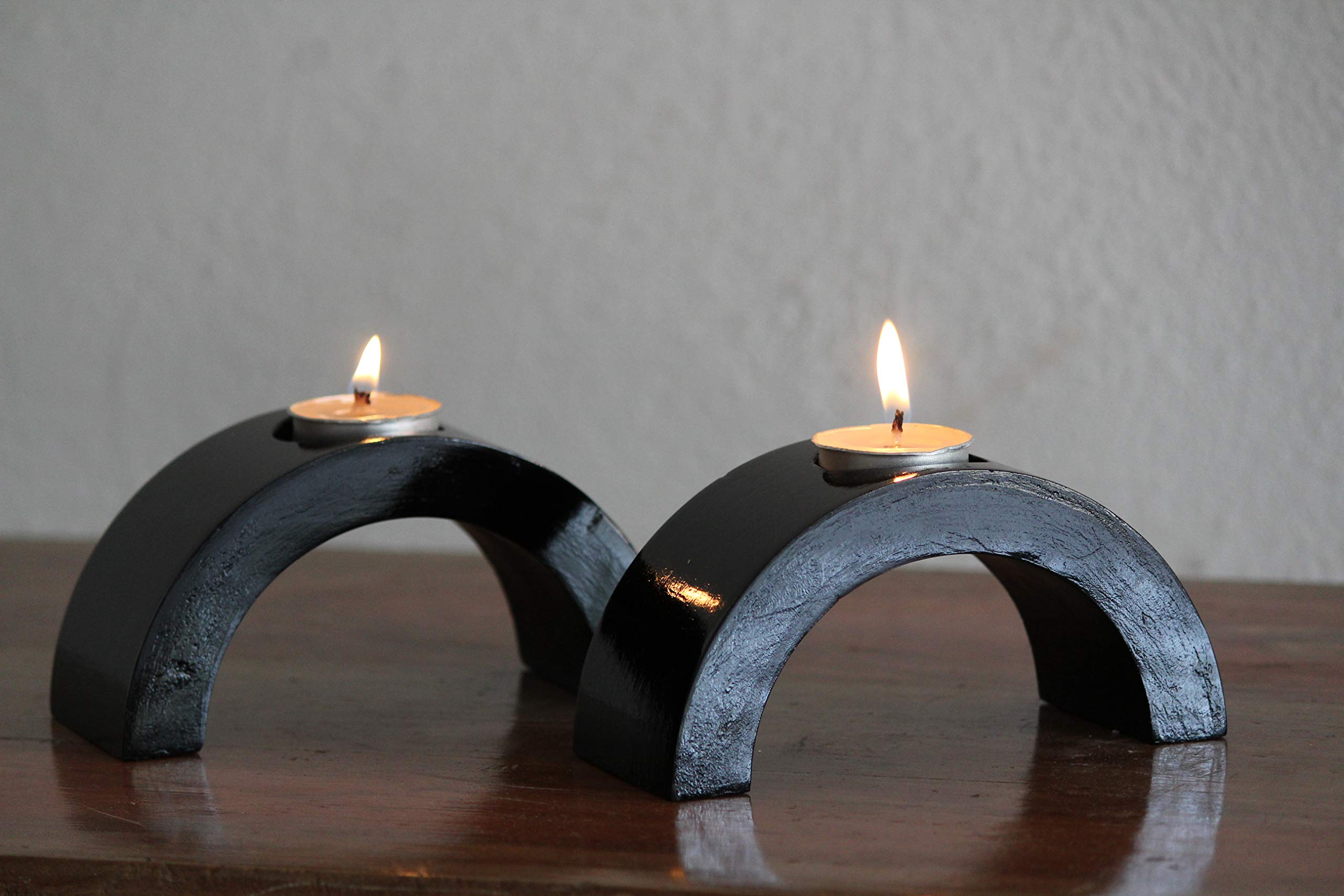 Village Creation Candle Holder Party Spa Aromatherapy Décor, Set of 3