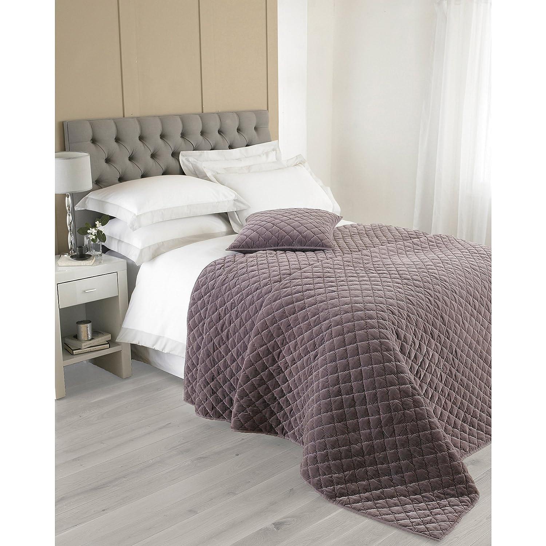 Purple 240 x 250 cm Riva Paoletti Annecy Violet Bedspreads Cotton