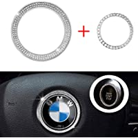 Vichona Bling Steering Wheel Stickers Rhinestones Car Accessories Fashion Car Interior Accessories Compatible with BMW…
