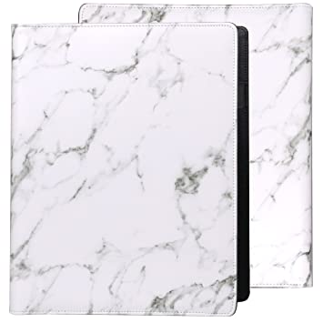Amazon.com : Plinrise Luxury Marble Portfolio File Folder Document ...