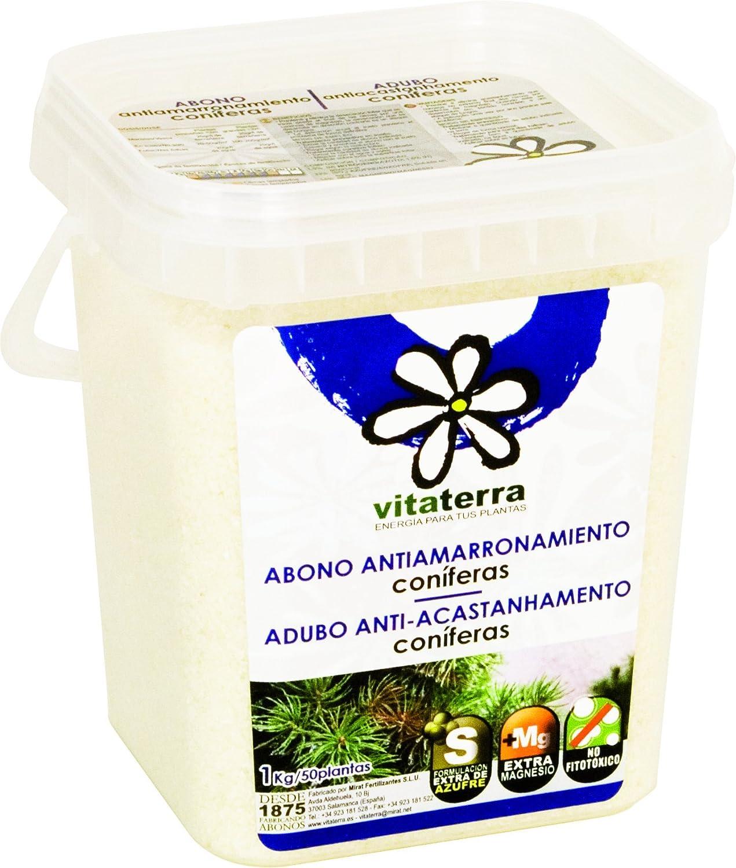 Vitaterra Abono Antiamarronamiento de Coníferas 1 kg, 27111: Amazon.es: Jardín