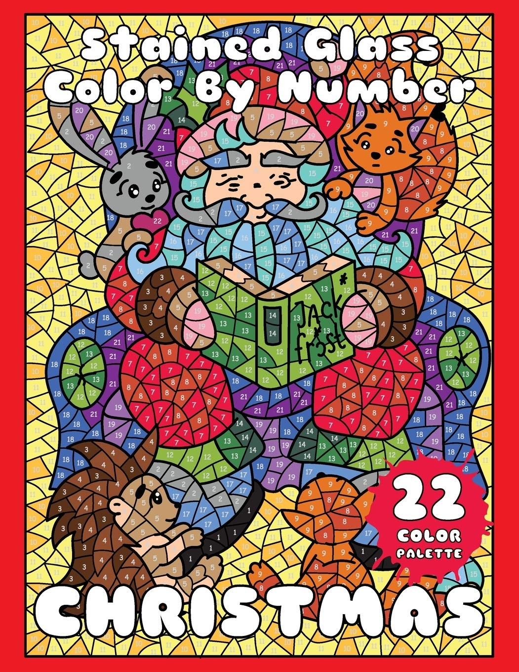 Amazon Com Christmas Stained Glass Color By Number Mosaic Color By Number Book For Adults Relaxation And Stress Relief Mosaic Color By Number Books 9781703071900 Drawing Sunlife Color By Number Mosaic Books