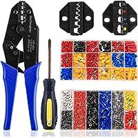 Kit de crimpado de terminales de cable, herramienta de crimpado de terminales de cable 2 en 1, herramientas de crimpado…
