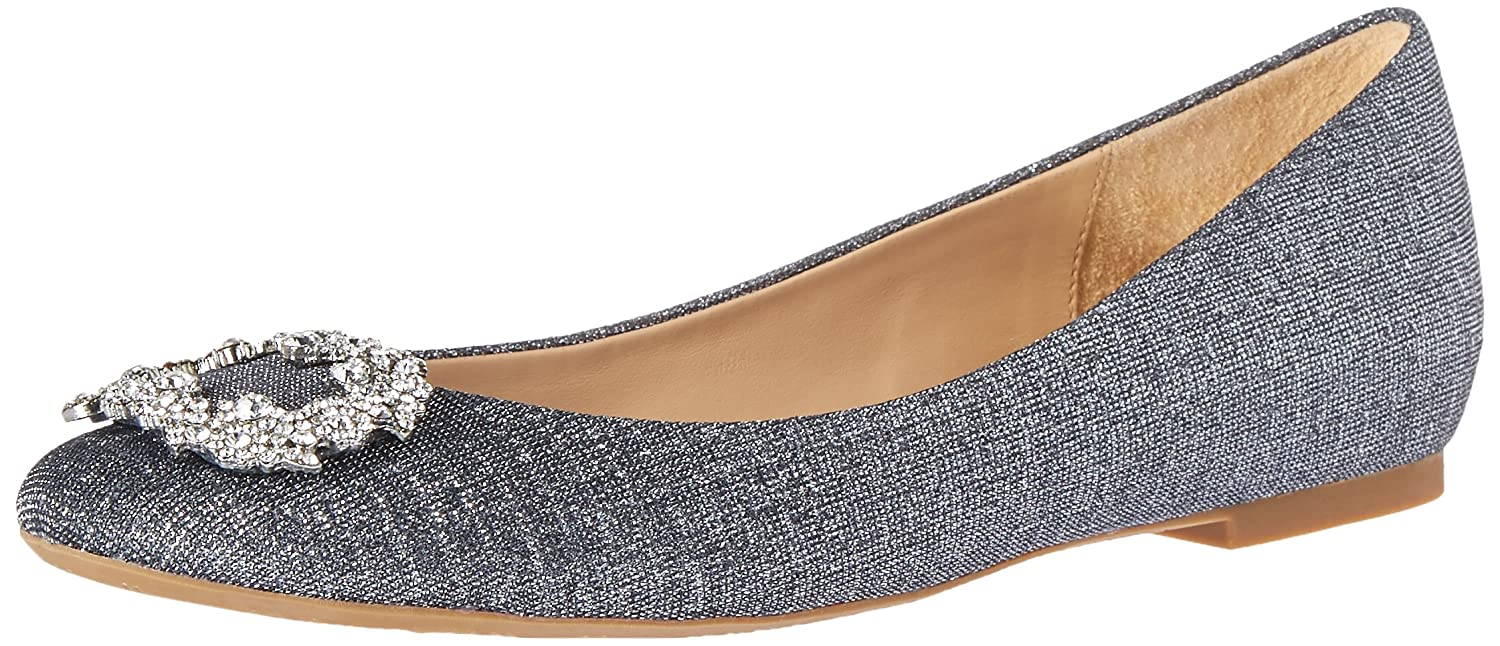 Badgley Mischka Women's North Ballet Flat B01BIWBQ8S 8 M US|Pewter