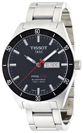 6a37fc9e180 Amazon.com  Tissot Men s T0444302105100 PRS 516 Stainless Steel ...