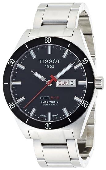 Tissot PRS516 T0444302105100 - Reloj de caballero automático, correa de acero inoxidable color: Tissot: Amazon.es: Relojes