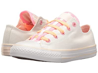 533cff6219c5 Converse Kids All Star Loopholes OX Shoes White Sunset Glow White Size 1