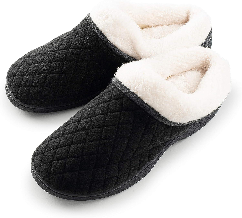 Roxoni Womens Slippers Memory Foam Soft Terry Ladies House Slipper