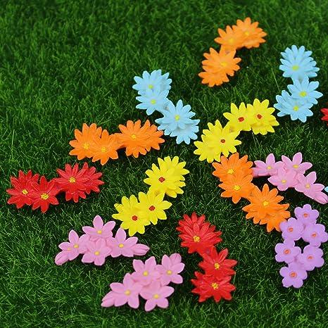 Danmu 15pcs Mini PVC Flowers Miniature House Fairy Garden Micro Landscape  Home Garden Decoration Plant Pots Bonsai Craft Decor
