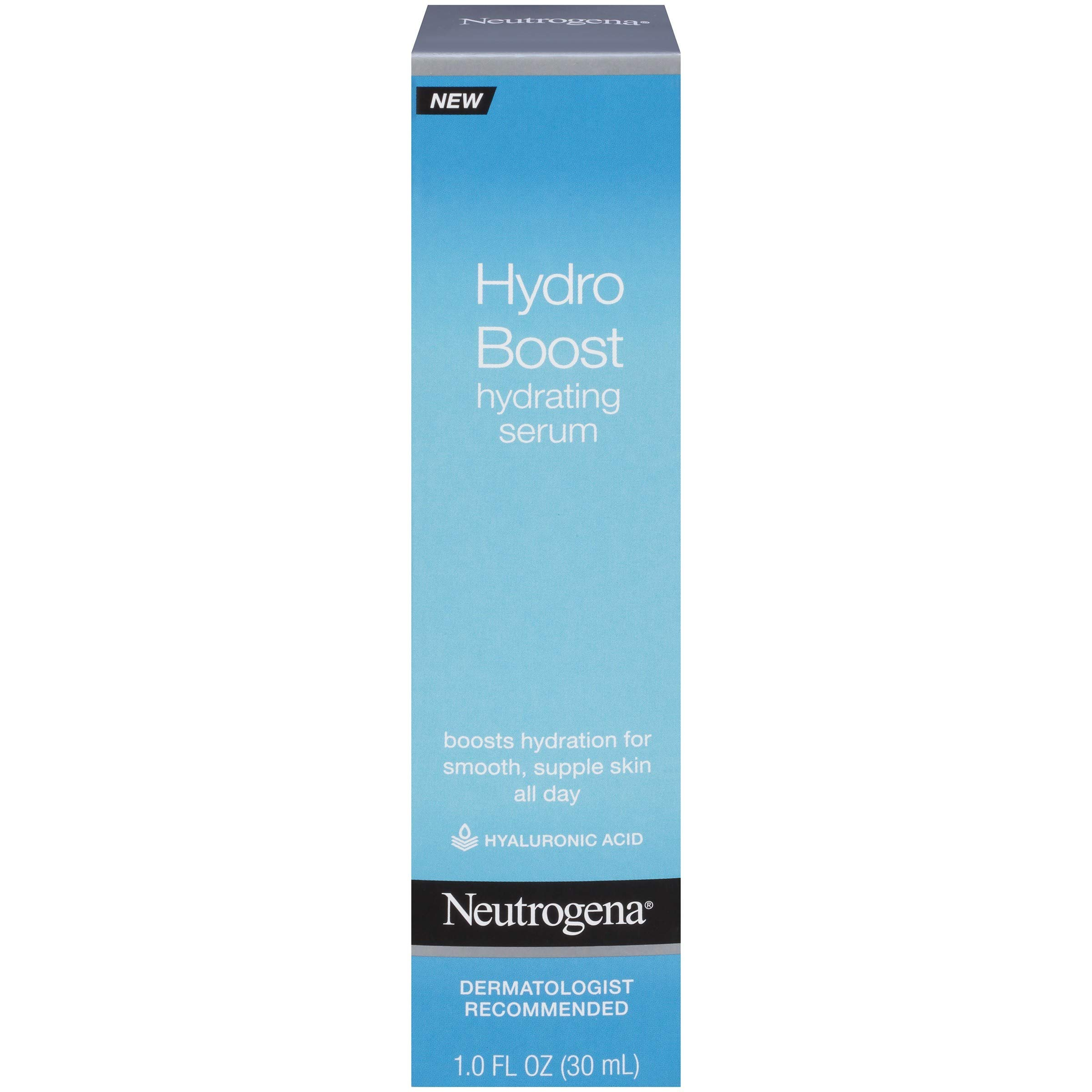 Neutrogena Hydro Boost Hydrating Hyaluronic Acid Serum, Oil-Free and Non-Comedogenic Formula for Glowing Complexion, 1 fl. oz by Neutrogena