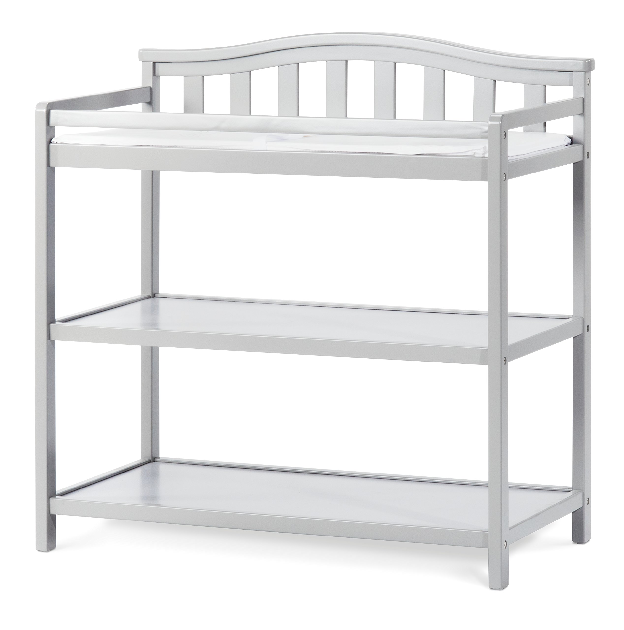Child Craft Arched Top Changing Table with Pad, Cool Gray by Child Craft (Image #1)