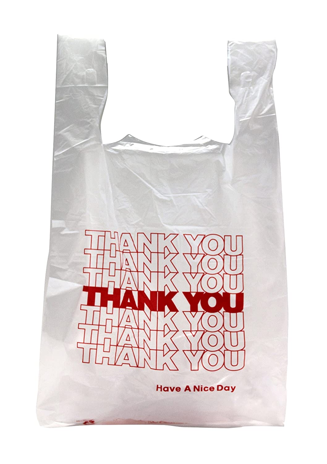 Black t shirt carryout bags - Amazon Com Thank You T Shirt Carry Out Plastic Shopping Bags White Case Of 500 Industrial Scientific