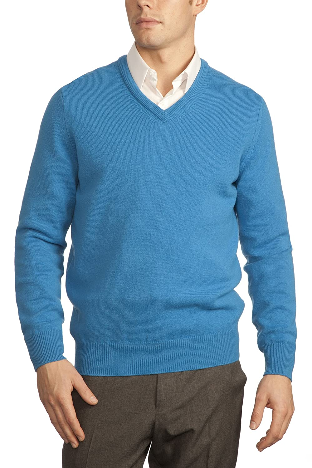 Great and British Knitwear Mens 100/% Lambswool Plain V Neck Jumper Made In Scotland