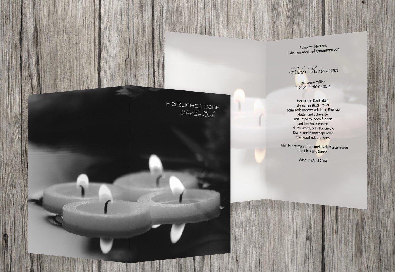 Más asequible Tarjetas de agradecimiento luto velas flotantes, flotantes, flotantes, hellesGrau, 40 Karten  gran descuento