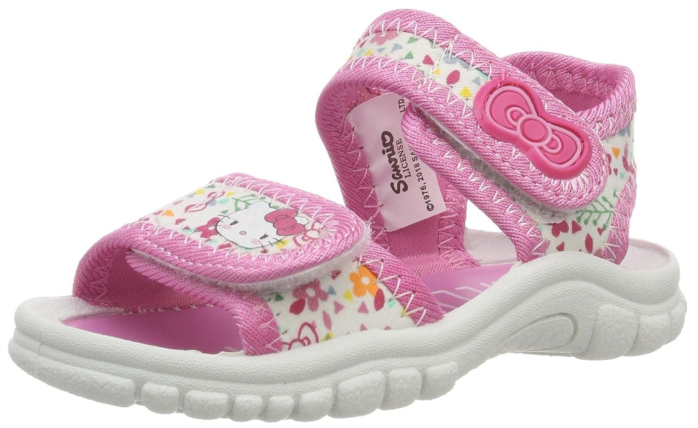 Hello Kitty HK Karole, Sandalias con Punta Abierta para Niñas, Blanco (White/Pink 20), 20 EU: Amazon.es: Zapatos y complementos