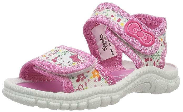 Hello Kitty HK Karole, Sandalias con Punta Abierta para Niñas, Blanco (White/Pink 20), EU: Amazon.es: Zapatos y complementos