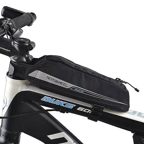 LiDiwee Bolsa Bicicleta, Triángulo Bici Material Jacquard Bolsa Tubo Bicicleta Bolsas Impermeable para Manillar para de la Bici del Camino(0,4L)
