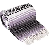 Canyon Creek Authentic Mexican Yoga Falsa Blanket (Light Purple)