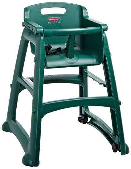 Superbe Rubbermaid Commercial Sturdy Chair Youth Seat High Chair With Wheels, Dark  Green, FG780508DGRN