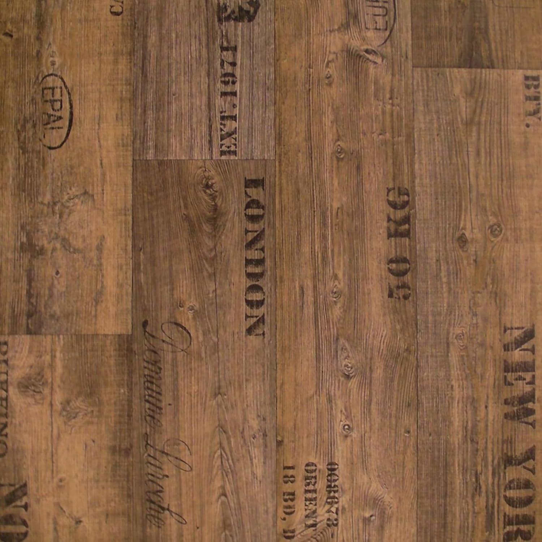 11,90 /€ p. m/² PVC Bodenbelag Rustikal Dunkel mit Aufdruck Breite: 200 cm x L/änge: 250 cm