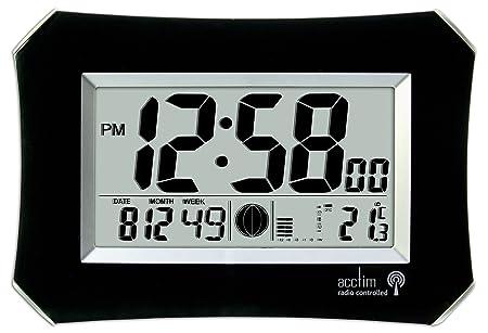 acctim 74423 halo radio controlled wall clock black amazon co uk rh amazon co uk