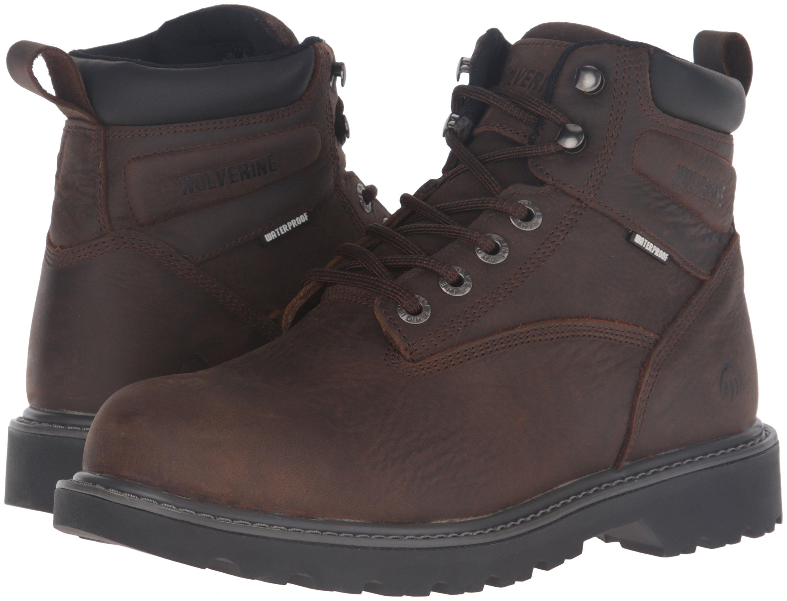 Wolverine Men's Floorhand 6 Inch Waterproof Steel Toe Work Shoe, Dark Brown, 9.5 M US by Wolverine (Image #6)