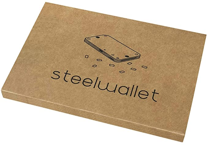 SteelWallet copia indestructible de claves privadas compatible con Ledger Nano S, Trezor wallet, KeepKey y carteras basadas en BIP39