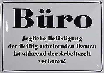 Amazon De Rv Blechschild 10x15 Cm Buro Spruch Spruche Sign