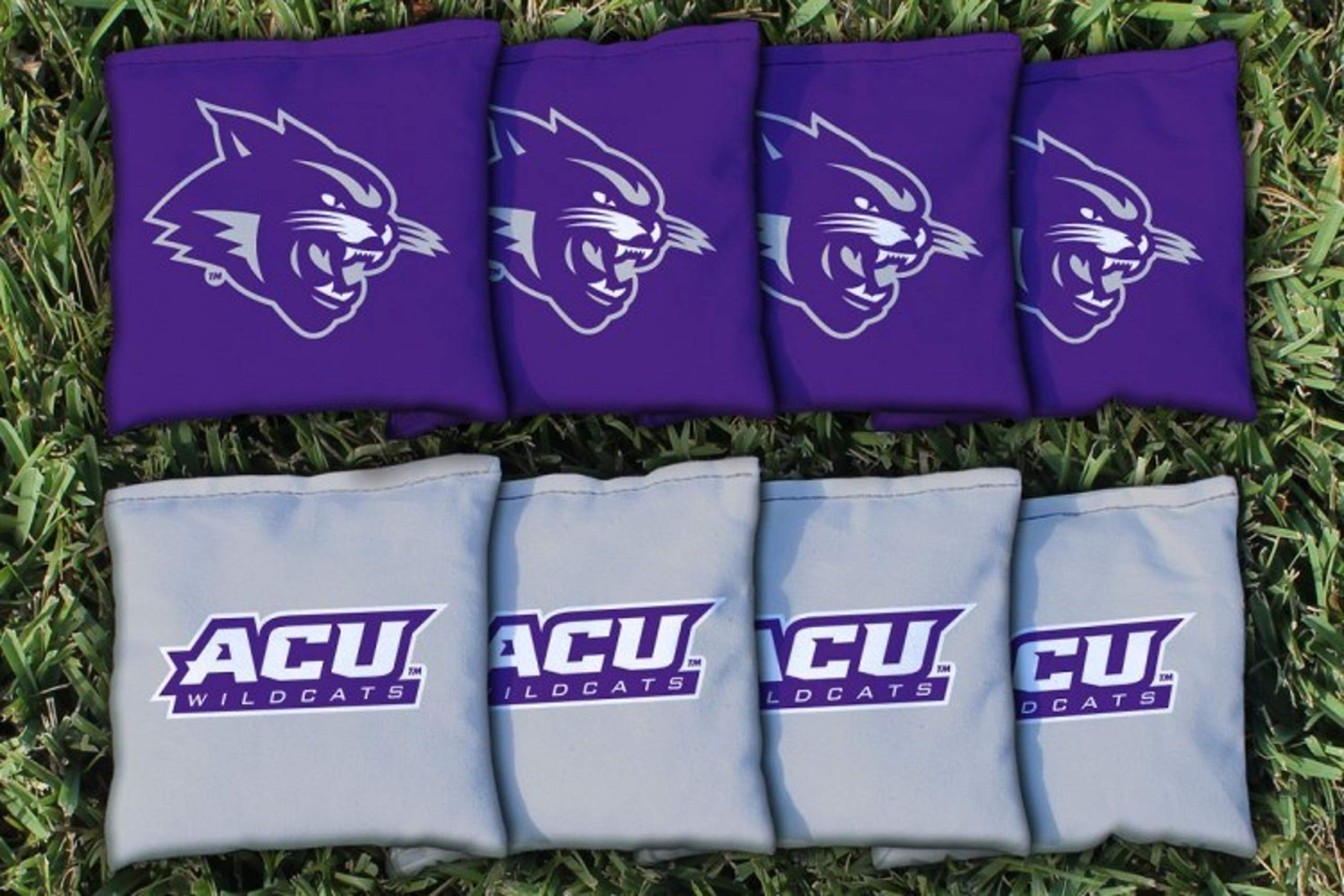 Victory Tailgate NCAA Collegiate Regulation Cornhole Game Bag Set (8 Bags Included, Corn-Filled) - Abilene Christian Wildcats