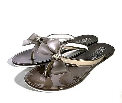 09819ecb4bddb7 Chemistry T501 Women s Shoes Flat Flip Flops Slip on Sandals Black 5 B(M) US