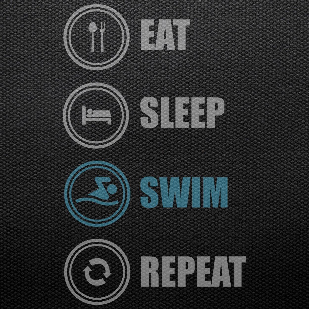 Teechopchop Eat Sleep Swim Repeat,Swimming Lovers,Gift Tank Top