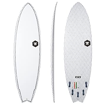7S Surfboards - 7S Super Fish 3 Carbon Vector Surfboard - White