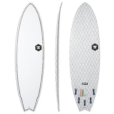 7S Surfboards - 7S Super Fish 3 Carbon Vector Surfboard - White: Amazon.es: Deportes y aire libre