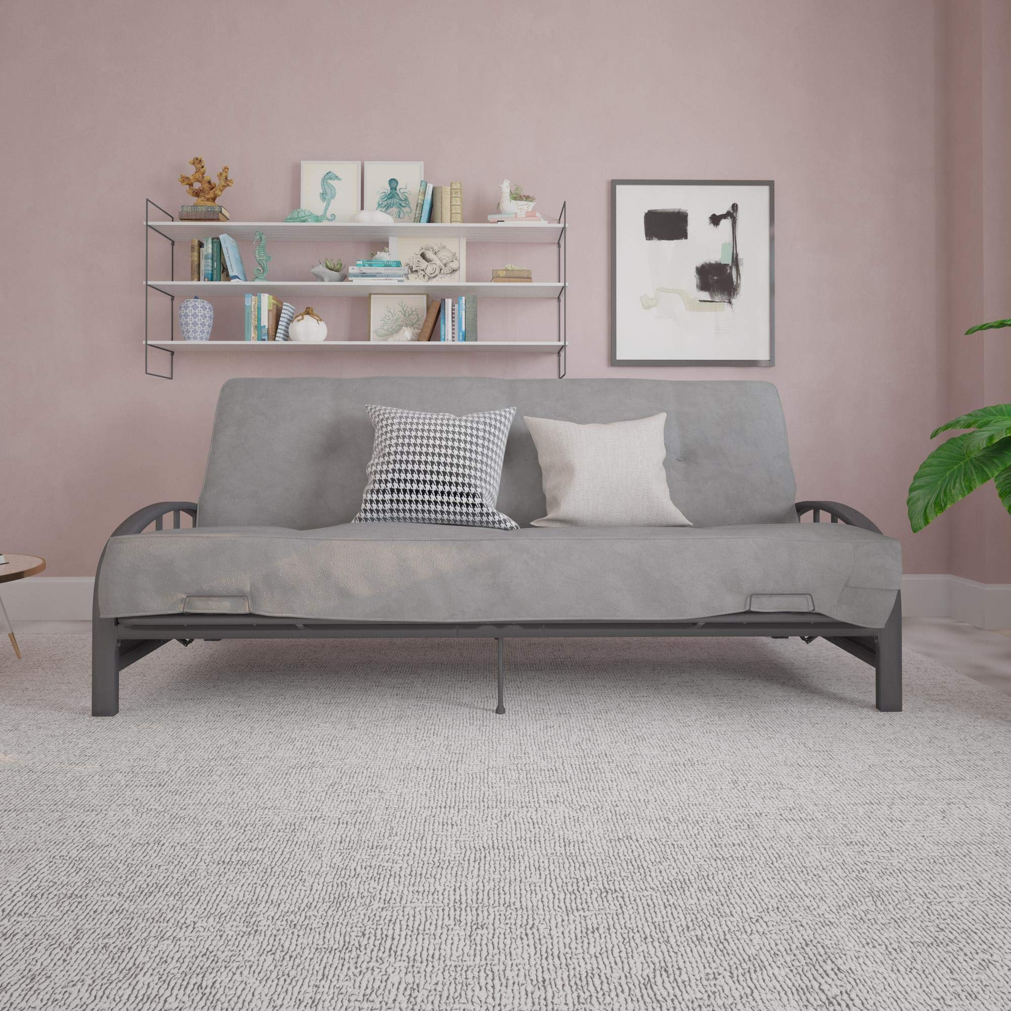 DHP Aiden Futon Frame, Gray by DHP