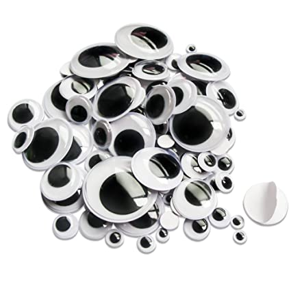 Toaob Self Adhesive Wiggle Eyes Round Black and White 35/mm DIY Scrapbooking Craft Toy Accessories Pack of 30