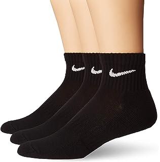 Amazon.com: NIKE Performance Cushion Quarter Socks with Bag ...